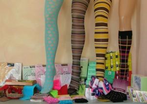 esposizione dei prodotti di calzifcio Gaia